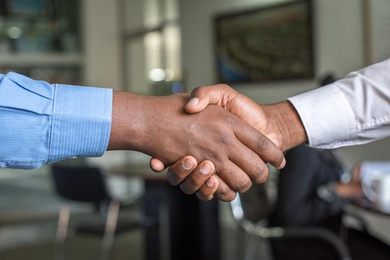 A handshake that symbolizes trust