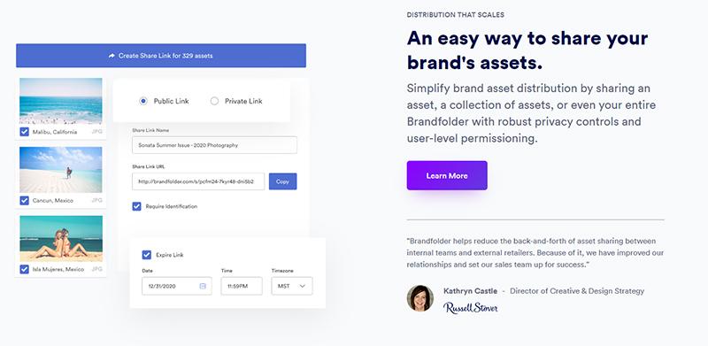 Brandfolder webpage