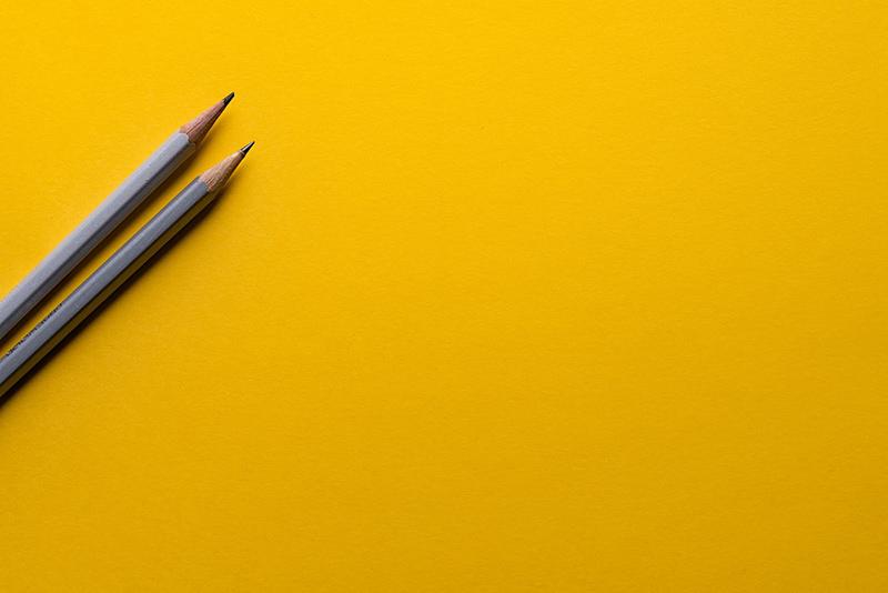 Drawing pencils. Keep it minimalistic