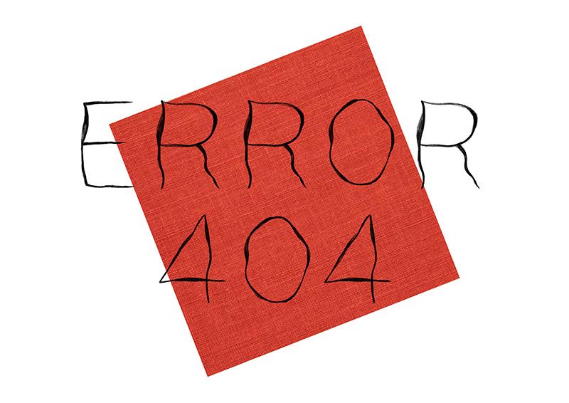 Error 404 sketch drawing
