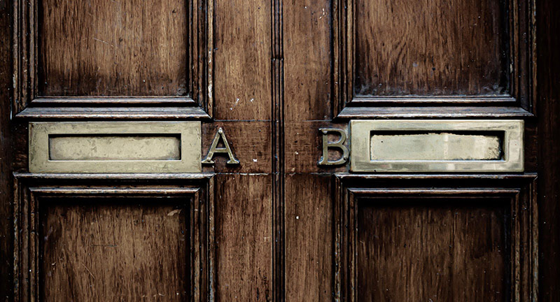 Two mailboxes A and B