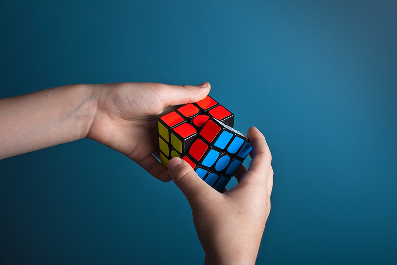 Solving Rubic's Cube riddle is a problem