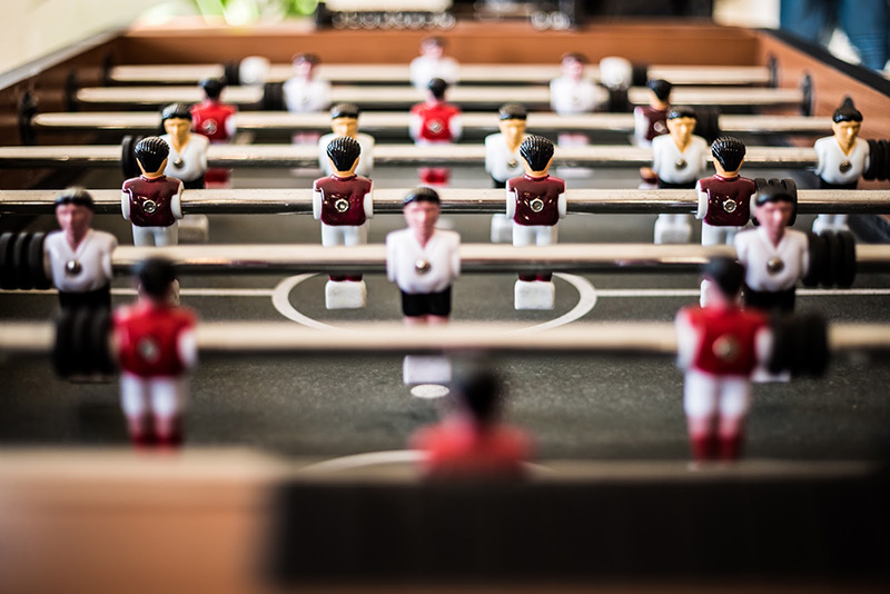 Table football needs a skill