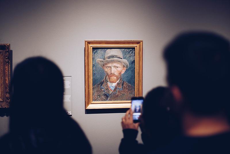 Van Gogh portrait at gallery
