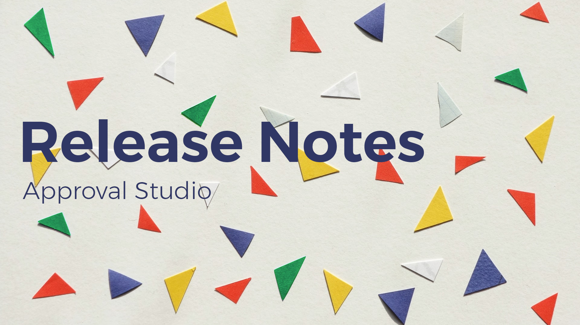 Release Notes Approval Studio